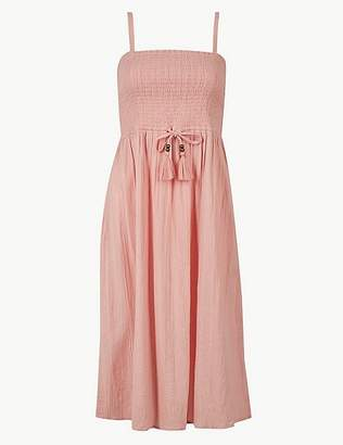 Marks and Spencer Shirred Slip Beach Dress