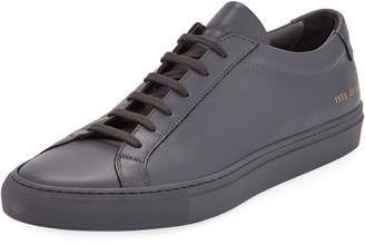 Common Projects Men's Achilles Leather Low-Top Sneakers, Dark Gray