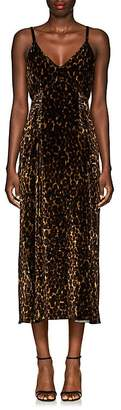 Masscob Women's Lea Leopard-Print Velvet Dress
