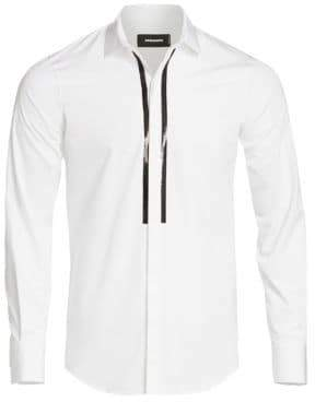 DSQUARED2 Popeline Embellished Button-Down Shirt