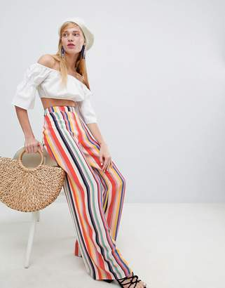 New Look Rainbow Stripe Wide Leg PANTS