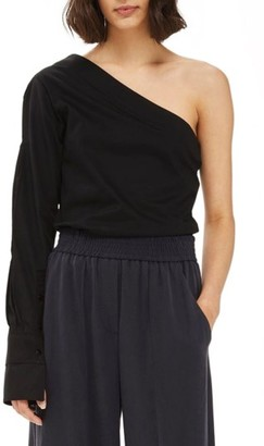 Women's Topshop One-Shoulder Jersey Shirt $48 thestylecure.com