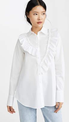 ADEAM Asymmetric Ruffle Shirt