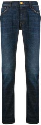 Class Roberto Cavalli logo patch slim-fit jeans