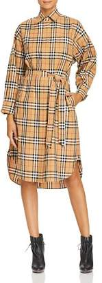 Burberry Isotto Plaid Shirt Dress