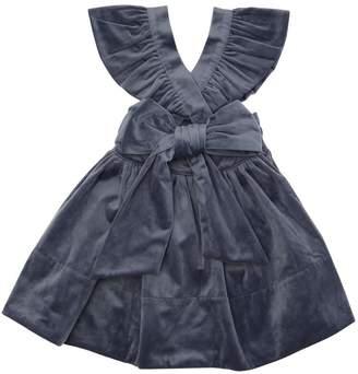 Velvet Skirt With Ruffles Straps