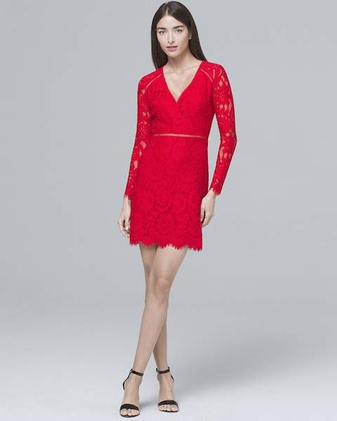 Whbm Lace Sheath Dress