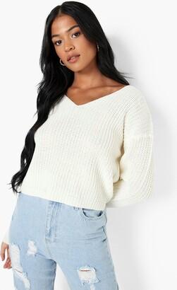 boohoo Tall V Neck Sweater