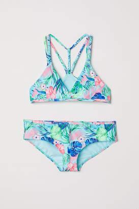 H&M Patterned Bikini - Turquoise