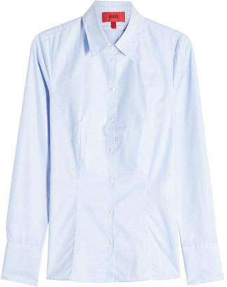 HUGO Etrixe Printed Cotton Shirt