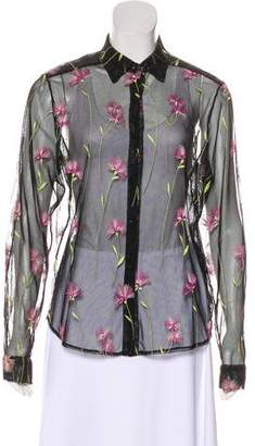 Sonia Rykiel Embroidered Button-Up Top