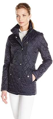 Nautica Women's Fitted Barn Quilted Jacket $90 thestylecure.com