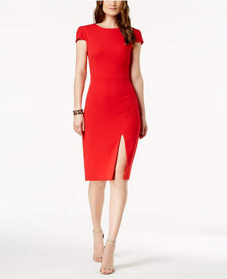 Betsey Johnson (ベッツィ ジョンソン) - Betsey Johnson Cap-Sleeve Slit Dress