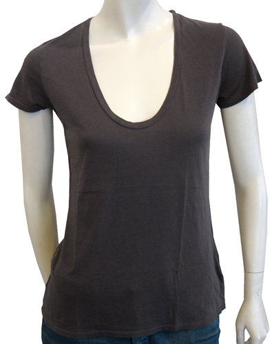 James Perse Short Sleeve Relaxed Casual Tee In Ink