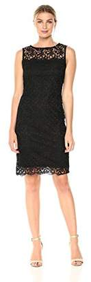 Tiana B Women's Crochet Sheath Dress