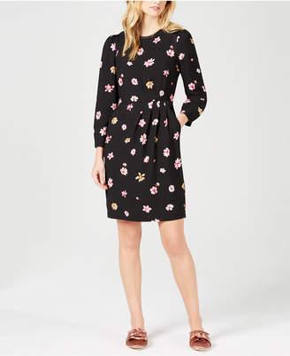 Marella Rosa Floral-Print Long-sleeve Dress