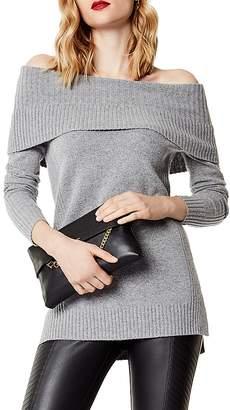 Karen Millen Off-the-Shoulder High/Low Sweater