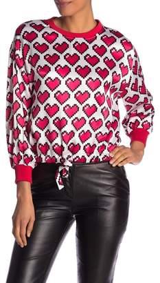 Love Moschino Allover Heart Pullover