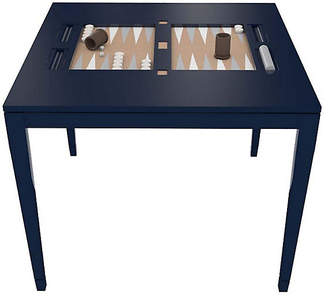 Oomph Backgammon Square Game Table - Club Navy