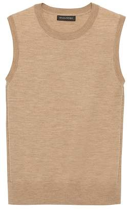 Banana Republic Machine-Washable Merino Wool Blend Cropped Sweater Shell