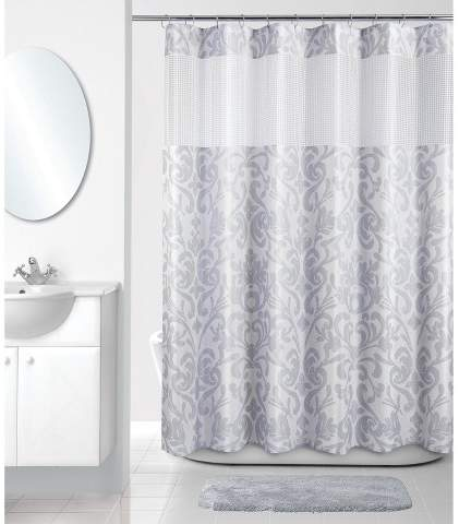 Allure Home Creation Shower Curtain Allure Home Creation Damask Multi-colored