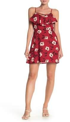Rowa ROW A Floral Ruffled Mini Dress