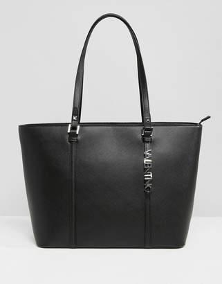 Mario Valentino Valentino By Structured Tote Bag In Black