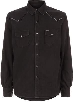 7 For All Mankind Studded Denim Western Shirt