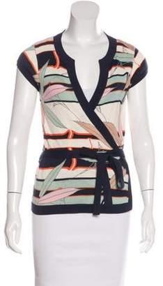 Diane von Furstenberg Silk Short Sleeve Cardigan Navy Silk Short Sleeve Cardigan