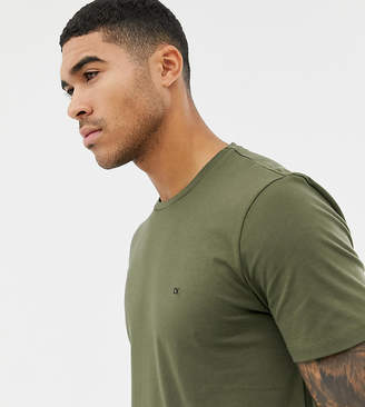 Calvin Klein t-shirt with small logo olive night Exclusive at ASOS