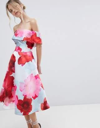Coast Casis Bardot Floral Printed Volume Dress