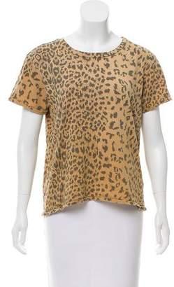 Current/Elliott Leopard Print Short Sleeve T-Shirt