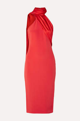 Cushnie Draped Silk-satin Dress - Red