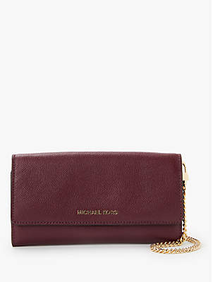 Michael Kors MICHAEL Crossbodies Leather Wallet On A Chain Clutch Bag
