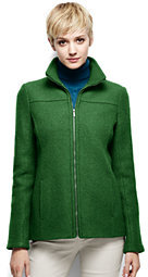 Lands' End Women's Tall Boiled Wool Jacket-Washed Cobalt $119 thestylecure.com