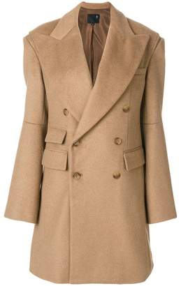 R 13 double-breasted wide lapel coat
