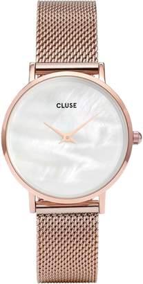 Cluse Women's Minuit La Perle 33mm Steel Bracelet Quartz Analog Watch CL30047