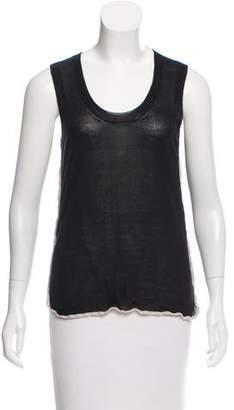 Celine Sleeveless Silk-Cashmere Top