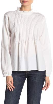 Velvet by Graham & Spencer Nabia Pintuck Long Sleeve Top
