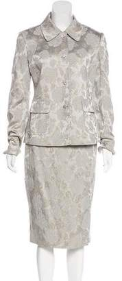 Dolce & Gabbana Floral Jacquard Skirt Suit w/ Tags