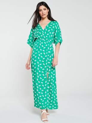21fdf36f57 Very Soft Kimono Maxi Dress - Green Print