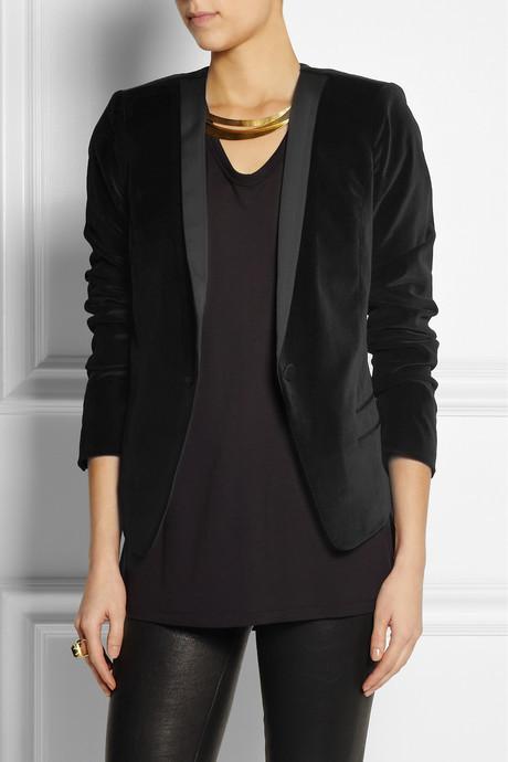 DAY Birger et Mikkelsen Velvet and matte-satin tuxedo jacket