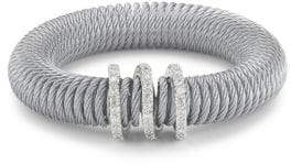 Alor Stainless Steel & Diamond Coil Bracelet
