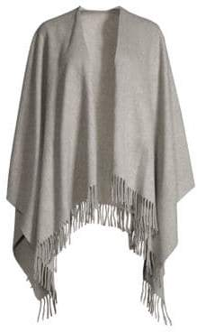 Rag & Bone Rag& Bone Women's Fringe-Trim Cashmere Poncho - Heather Grey