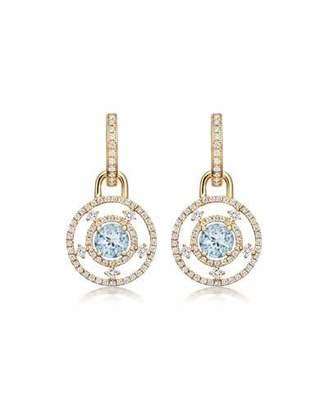 Kiki McDonough Apollo 18k Gold, Blue Topaz & Diamond Drop Earrings