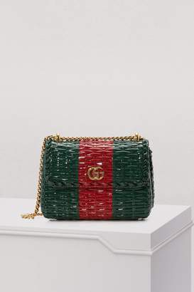 Gucci Cestino straw mini shoulder bag