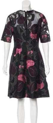 Lela Rose Patterned Knee-Length Dress