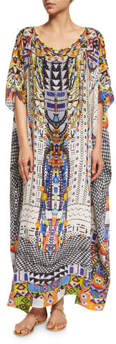 CamillaCamilla Embellished Caftan Coverup Maxi Dress, Echoes of Engai