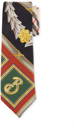 Burberry Graphic Print Silk Tie