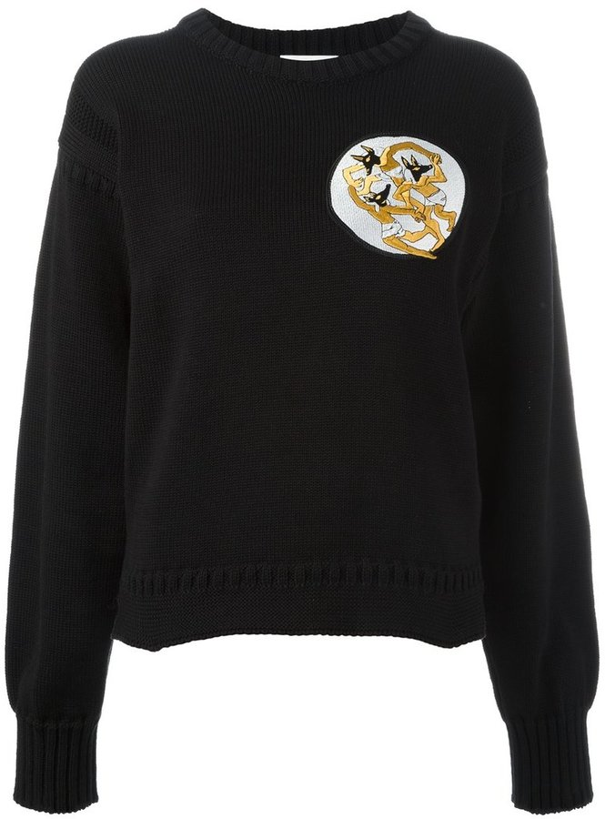 J.W.Anderson - Dancing Wolves patch sweatshirt - women - Cotton - XS